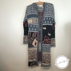 Free People | Americana Hooded Patchwork Cardigan